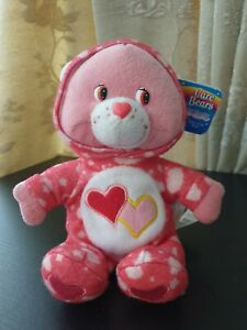 """2005 8"""" Carebears Pj Party Luv A Lot Bear With Tag"""