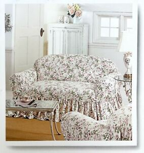 Rachel Ashwell Simply Shabby Chic ROSALIE Casually Fitted Loveseat Slipcover NEW