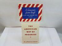 Kraft Foods 1940 New York Worlds Fair American Way Of Progress Letter W/Envelope