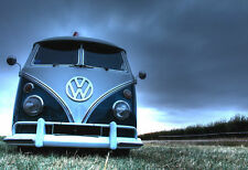 A3 SIZE - VW CAMPER VAN BEETLE ,CAR 2  GIFT / WALL DECOR ART POSTER
