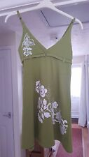 Super Lime Green Multi Strappy Tunic Top, Thigh Length, Size 6, VGC