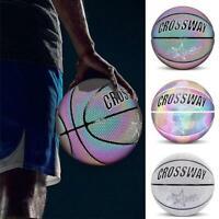 Sports Reflective No.7 Standard Basketball Luminous PU Wearable W/Inflatable
