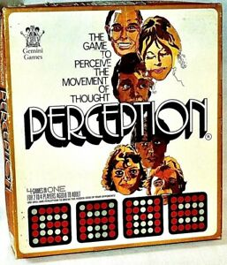 PERCEPTION BOARD GAME BREAK THE HIDDEN CODE 1971 BY MASTERMIND CREATOR COMPLETE