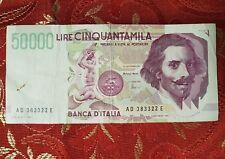 Banconota Italiana 50.000 Lire Serie AD 383322 E Quasi FDS Ottima da collezione