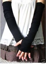 Spandex Arm Warmer Long Fingerless Gloves Stretch Sleeves Gothic Punk Protection