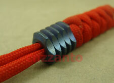 Titanium Blue Ti Parachute Cord Knife Tool Lanyard Beads pendant 6mm hole LB089