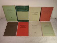 8 Hefte Richtlinien Lehrpläne Rahmenlehrpläne Schule Volksschule ca. 1950-70