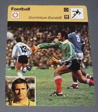 FICHE FOOTBALL 1978 DOMINIQUE BARATELLI ARGENTINE-FRANCE OGC NICE OGCN PSG