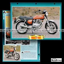 #084.03 Fiche Moto HONDA CB 400 AT HAWK HONDAMATIC 1978 Motorcycle Card