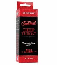 1 GOODHEAD wild cherry DEEP THROAT oral sex flavored gel doc johnson good head
