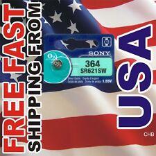 1 SONY 364 SR621SW SR621 LR621 SR60 Silver Oxide Watch Battery 0% Mercury