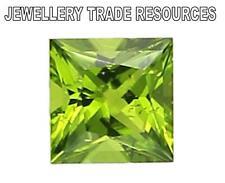 7mm x 7mm Square Princess Cut Natural Green Peridot Gem Gemstone
