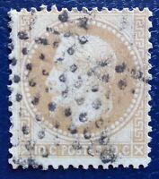 France oblitéré, n°28A, 10c Napoléon lauré, variété, format réduit, 1867