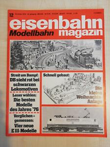 Eisenbahnmagazin Modellbahn 12/1976 - sehr guter Zustand (282)