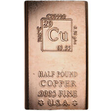 1/2 Pound Copper Bar -  8 oz Elemental