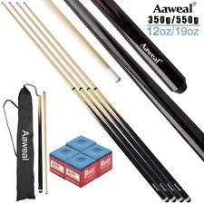 "Set of 4 Wooden Pool Cues 57"" Billiard House Bar Cue Sticks, 2-Piece Pool Cues"
