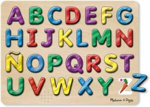 Melissa and Doug, Spanish Alphabet Sound Puzzle, Wooden Puzzle