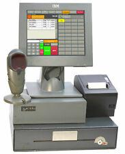 A-ware! IBM pos caja surepos 300 pantalla táctil impresora escáner clientes display #ok