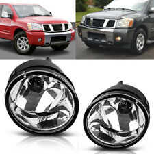 for 05-08 Nissan Armada/04-10 Titan Clear Front Bumper Fog Light Lamps+Bulbs L+R