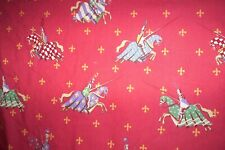 """Jane Churchill Jousting medieval knights SINGLE interlined curtain 75""""d x 50""""w"""