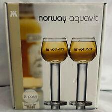 """Aquavit Norwegian """"Magnor Glassverk"""" cordial glass 2pk"""