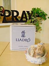 LLADRO OUR COZY HOME # 6469 YORKSHIRES DOGS YORKIE PUPPY MINT w/BOX FAST SHIP!!!