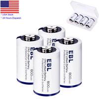 4x 3V 800mAh CR2 Lithium Battery (DLCR2,ELCR2) + Case For Camera Flashlight Toys
