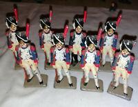 8 soldats plomb hussards