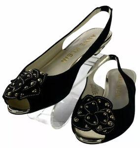 Anne Klein AKFARRAH Slingback Open Toe Sandals Womens Size 7M Black