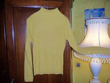 Pull col roulé jaune taille 4 NEUF