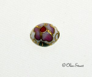 Oriental Cloisonne Beads Loose egg 12mm x 10mm