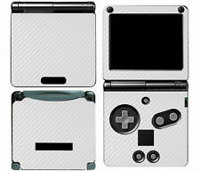 White Carbon Fiber Vinyl Decal Skin Cover Sticker for Game Boy Advance GBA SP