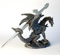 Dragon with Sword Ornament letter Opener Figurine Sculpture Dinosaur Dino Magic