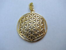 Authentic Flower of Life Large Charm Pendant 14K Gold Amazing Spiritual Tool!