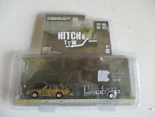Miniatures 1/64 3 Inches Greenlight Pontiac le Mans Safari 1977 & Trailer