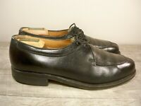 Vintage ET WRIGHT Black Leather Split Toe Men's Lace Up Oxfords Shoes Size 8 D