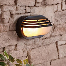 CGC Black Oval Eyelid Wall Ceiling Weatherproof Indoor Outdoor Light Security