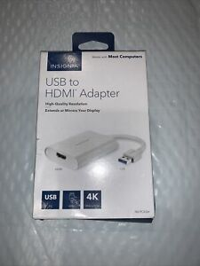 Insignia USB to HDMI Adapter White NEW!