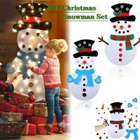 Felt Christmas Tree Set with Ornaments Felt Puzzle Snowman Xmas Wall Hamhing UK