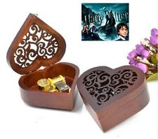 Heart Carving Wood Wind Up Music Box : Hedwig's Theme Soundtrack / Prologue