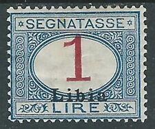 1915 LIBIA SEGNATASSE 1 LIRA MH * - I45-8