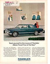1963 RAMBLER AMBASSADOR V-8 / MOTOR TREND CAR OF THE YEAR ~ ORIGINAL PRINT AD