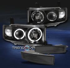 2003-2006 SCION XB HALO BLACK PROJECTOR HEAD LIGHT W/SMOKE BUMPER FOG LAMP