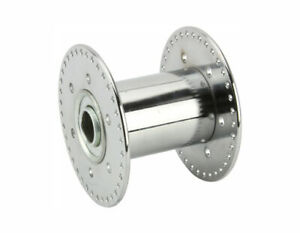 """A pair of Steel Hollow Hub 72h 80g Chrome for 5/8"""" axle"""