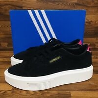 Adidas Originals Sleek Super (Women's Size 9) Shoes Black White Casual Sneakers