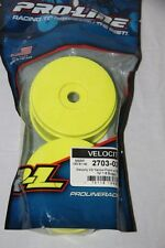 PROLINE RACING Jantes jaune Velocity Arrière 1:8 Buggy hex 17 mm