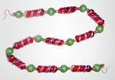Christopher Radko Glass Garland Christmas Candy Twist Swirl Purple Stripe 1997