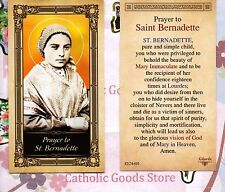 St. Bernadette with Prayer to Saint Bernadette - Glossy Paperstock Holy Card