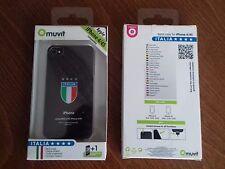 MUVIT SCUDETTO ITALIA COVER POSTERIORE COMPATIBILE IPHONE 4/4S NERO