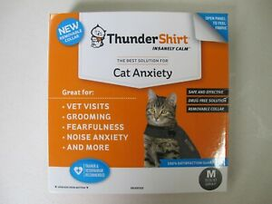 Thundershirt Classic Cat Anxiety Jacket Medium Heather Gray T02-HGM
